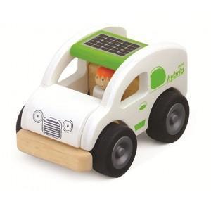 Petite voiture ecologique hybride wonderworld - jouets en bois 2