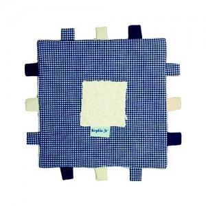 Doudou keptin-jr carré bleu - doudou ecologique