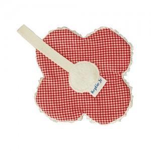 Attache sucette keptin-jr fleur rouge - doudou ecologique