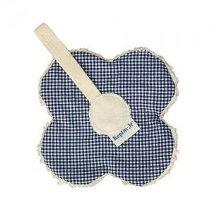 Attache sucette keptin junior fleur bleu - doudou bio