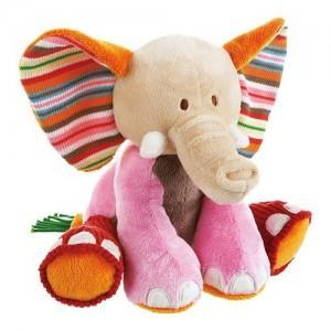 Doudou elephant gaby 21 cm happy horse - peluches - doudous