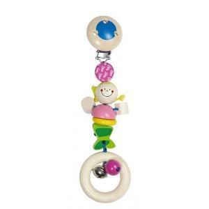Clip hochet sirène heimess - jouets en bois