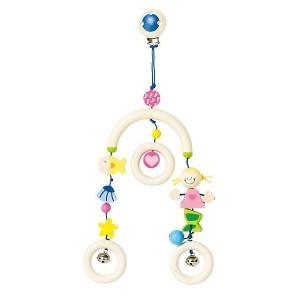 Clip hochet mini-mobile sirène heimess - jouets en bois
