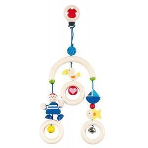 Clip hochet mini-mobile pirate heimess - jouets en bois