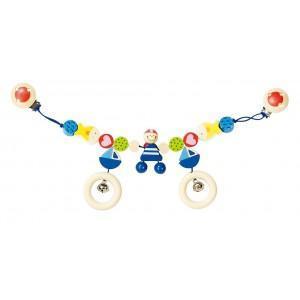 Chaine poussette pirate avec clips heimess - jouets en bois
