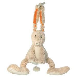 Lapin ficelle musical happy horse - doudou pour bébé