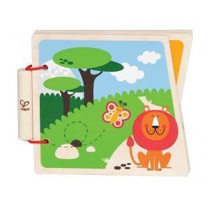 Jouet livre en bois bébé 'le zoo' - jouets bio hape