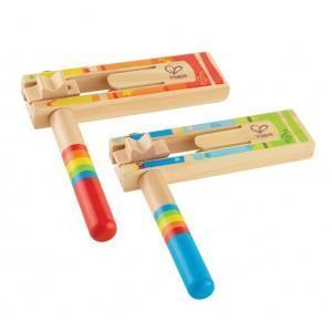 Set 2 crécelles en bois - jouets bio hape