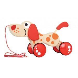 Jouet hape à trainer chien multi poses - jouets bio hape
