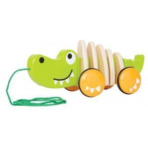 Jouet à trainer crocodile - jouets bio hape