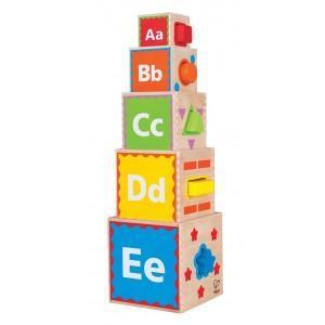 Pyramide de cubes - formes - jouets bio hape
