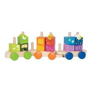 Train de cubes fantasia - jouets bio hape