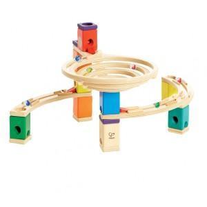 Hape circuit bille - toboggan quadrilla (rond point) - jouets hape