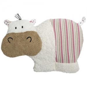 Doudou Bouillotte Efie Hippopotame 32 cm Coton Bio Organic ~ Epeautre - Doudou Bio Naturel Efie