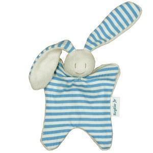 Doudou keptin-jr hochet petit doggo bleu ciel - doudou coton