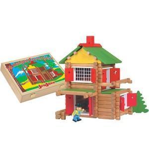 Jouet chalet en rondins (135 pcs) coffret bois jeujura - jouets