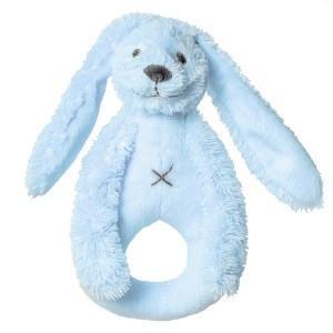Hochet lapin richie bleu happy horse - doudou pour bébé