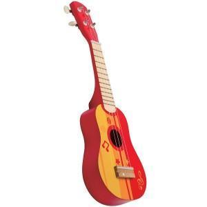 Guitare ukulélé enfant rouge - jouets hape