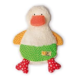 Mini bouillotte gel olli olbot doudou canard - doudou coton