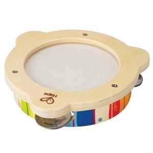 Hape tambourin en bois - cymbales - jouets écolo