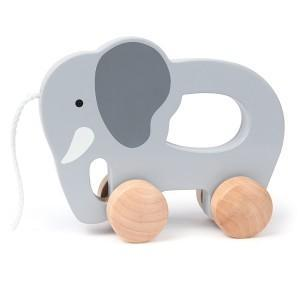 Elephant jouet hape à trainer - jouets écolo premier age