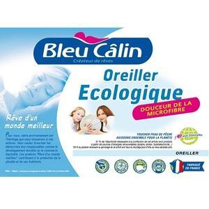 Lot de 2 Oreillers  Ecologique  Bleu Câlin - 60x60