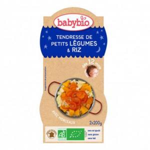 Bols Bonne Nuit Tendresse de Petits Légumes - Riz