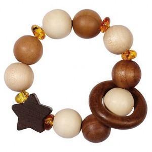 Hochet flexible étoile - ambre heimess - jouets en bois bébé