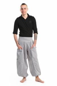 Pantalon sarouel baggy aladin homme femme gris clair