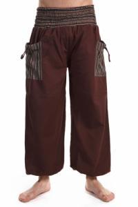 Pantalon sarouel elastique grande taille chocolat