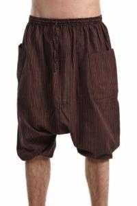 Saroual bermuda grande taille homme femme coton leger