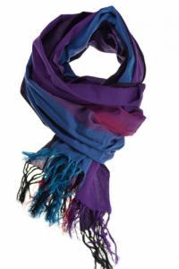 Cheche foulard coton basic ethnic violet bleu fuchsia chine