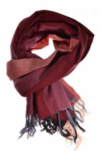 Cheche foulard coton basic ethnic bordeau rose gris