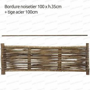 Bordure noisetier 100xh.35   tige 100cm