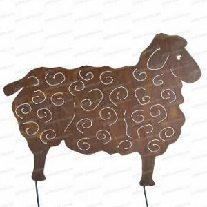 Silhouette Mouton petit modele - déco de jardin en métal