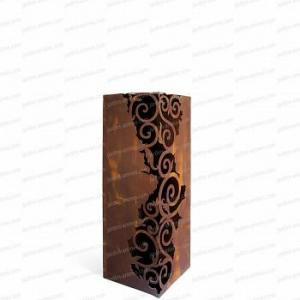 Colonne carrée Venezia métal 34x34xh.100cm