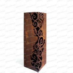 Colonne carrée Venezia métal 30x30xh.100cm