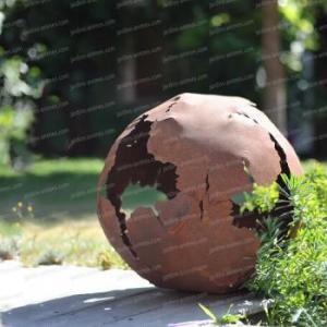 Boule en métal découpe laser d.40cm
