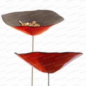 Coquelicot Mangeoire ou buvette en Céramique rouge x1