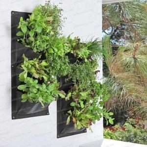 Jardin Vertical 4 poches pour Salades, aromatiques et petites plantes - lot de 2