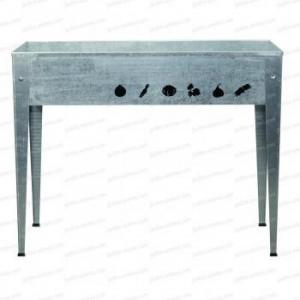 Potager urbain 100x40cm - acier galvanisé