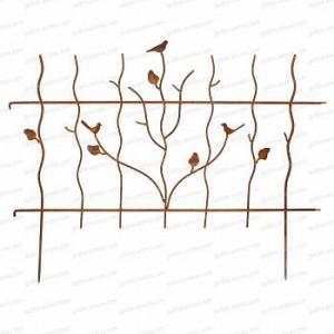 Bordure oiseau en acier long.124cm x h.92cm