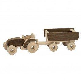 Tracteur en bois avec remorque