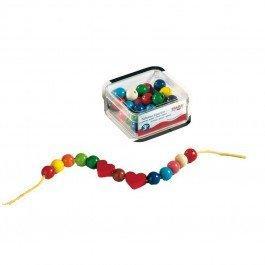 Perles bijoux en bois 42 pièces