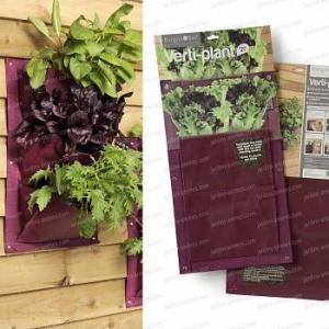Verti-Plant 3 poches - lot de 2- couleur Aubergine