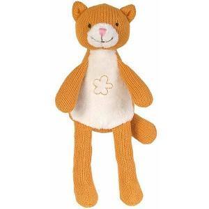 Doudou coton tricoté chat chica - doudou pour bébé