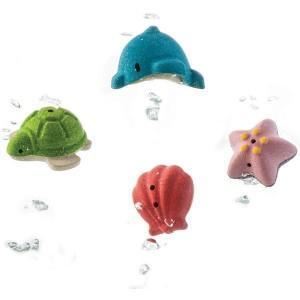 Jouets de bain 'animaux marins' planwood'  - jouets plantoys