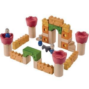 Jeu construction chateau fort  'planwood'    - jouet plantoys