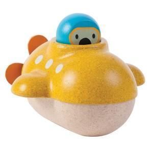 Jouets de bain 'petit sous marins' planwood'  - jouets plantoys