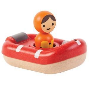 Plantoys jouets 'bateau sauvetage pompiers 'planwood'  - jouets de